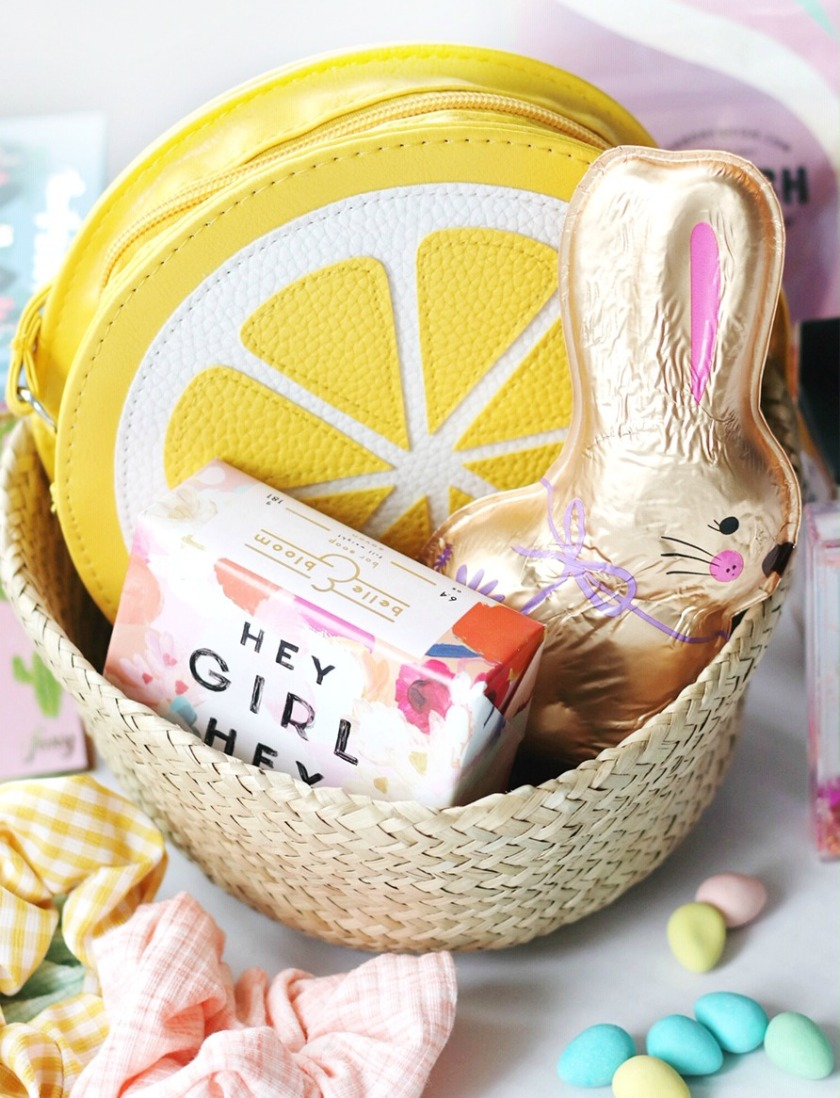Easter basket for tweens with bunny cropped