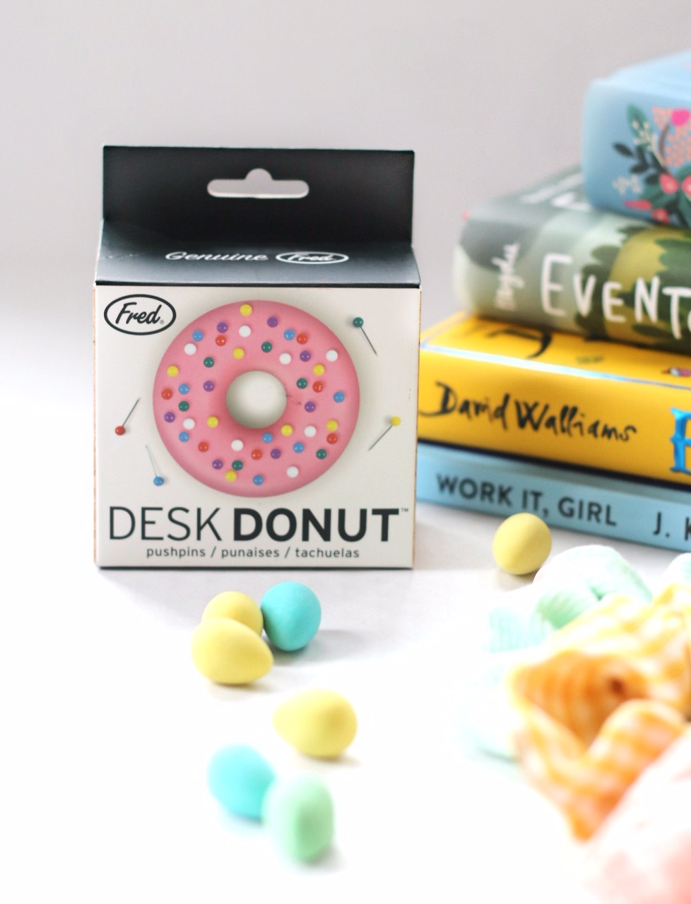 Easter basket tween desk donut pushpins
