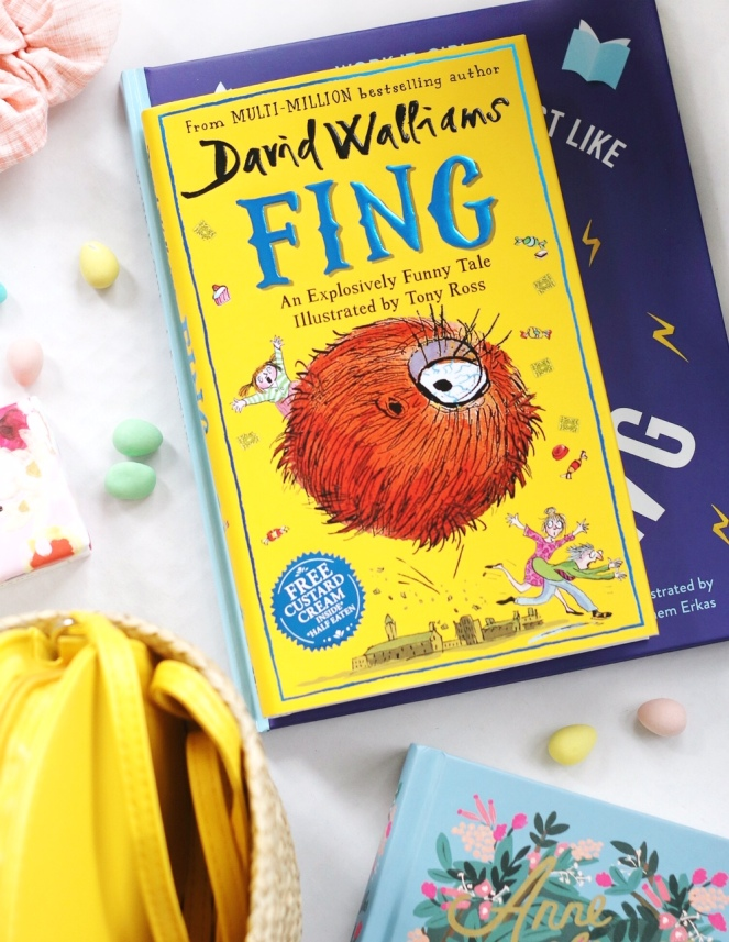 Easter basket tween Fing by David Walliams brighter