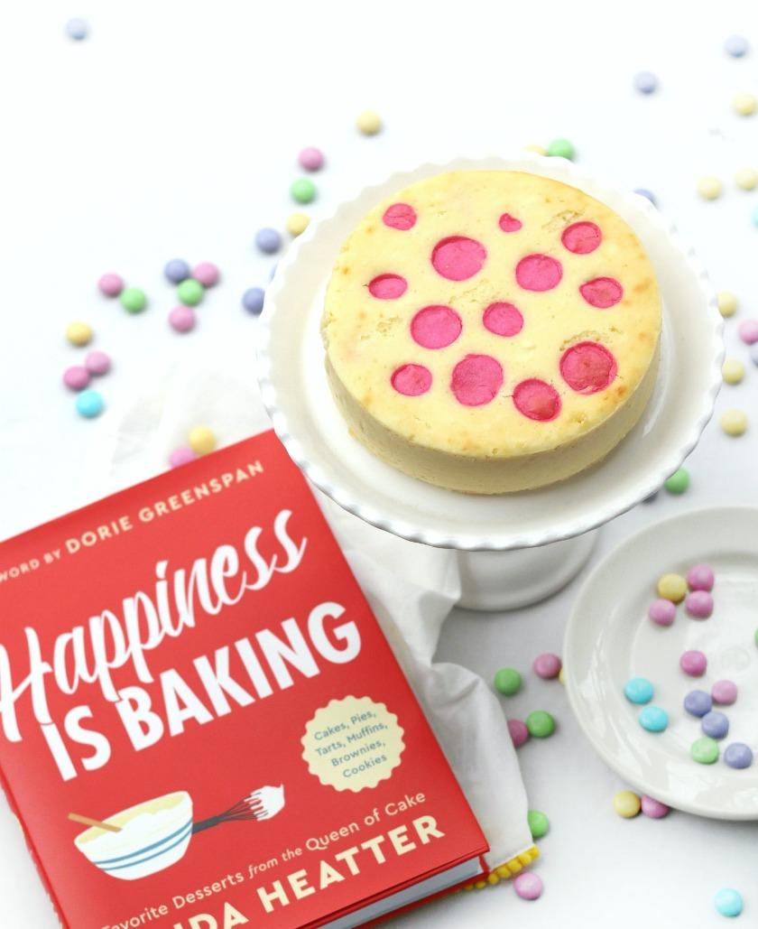 Happiness is Baking polka dot cheesecake