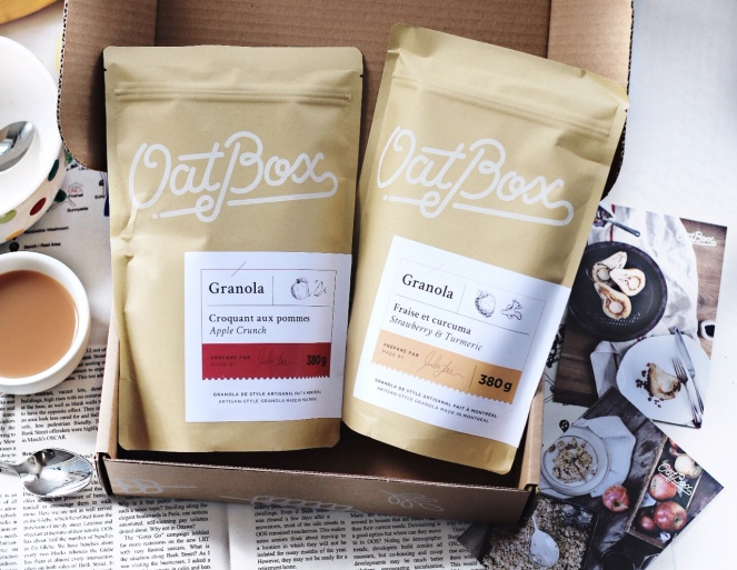 OatBox April 2019 opened box
