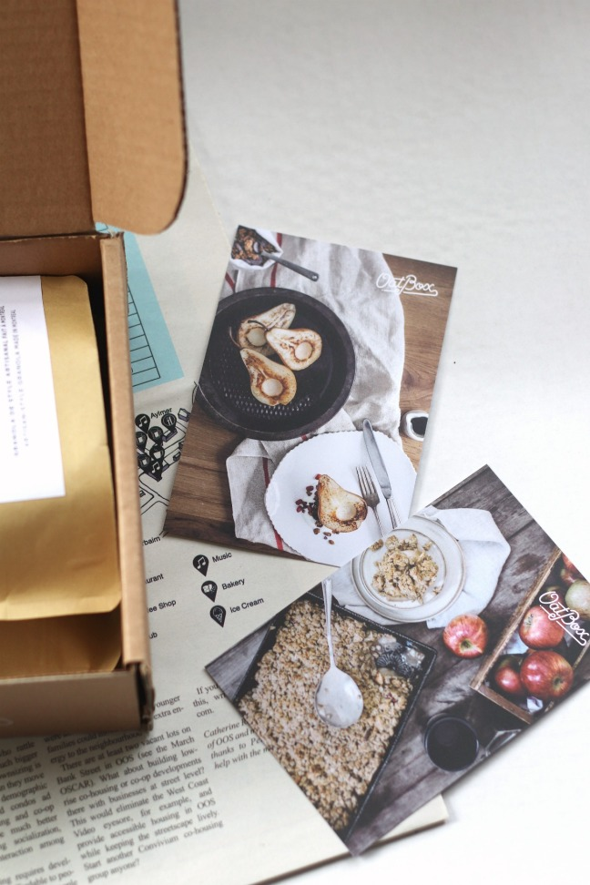 OatBox April 2019 recipe cards