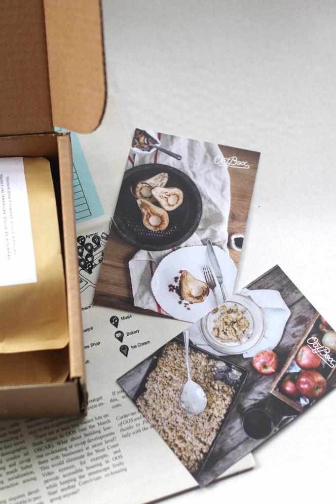 OatBox April 2019 recipe cards