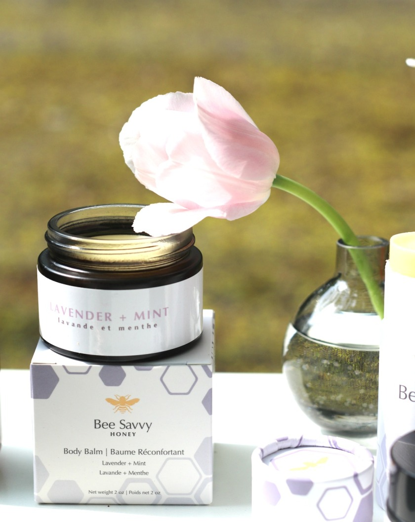 Bee Savvy Honey lavender and mint body balm vertical