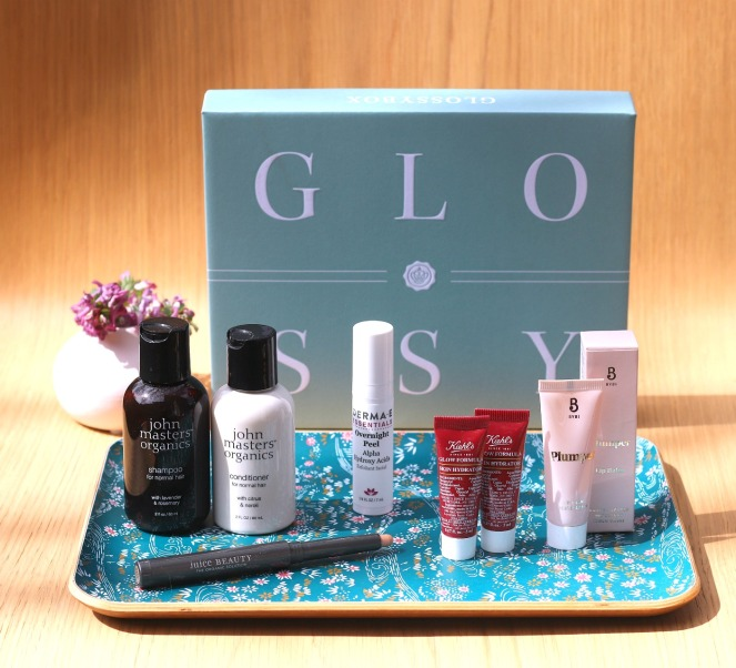 Glossybox April 2019 full contents with flower