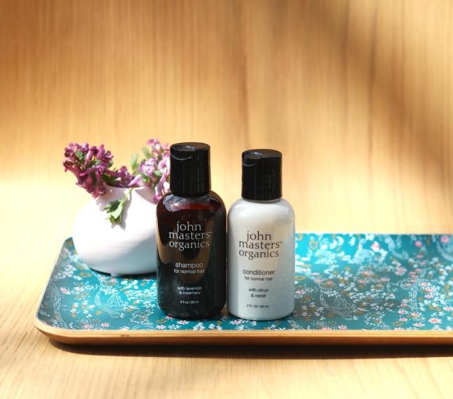 Glossybox April 2019 John Masters Organics shampoo and conditioner