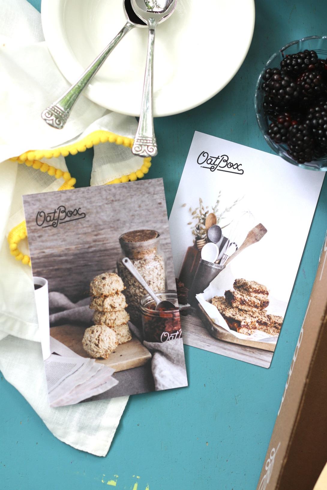 OatBox June 2019 recipe cards