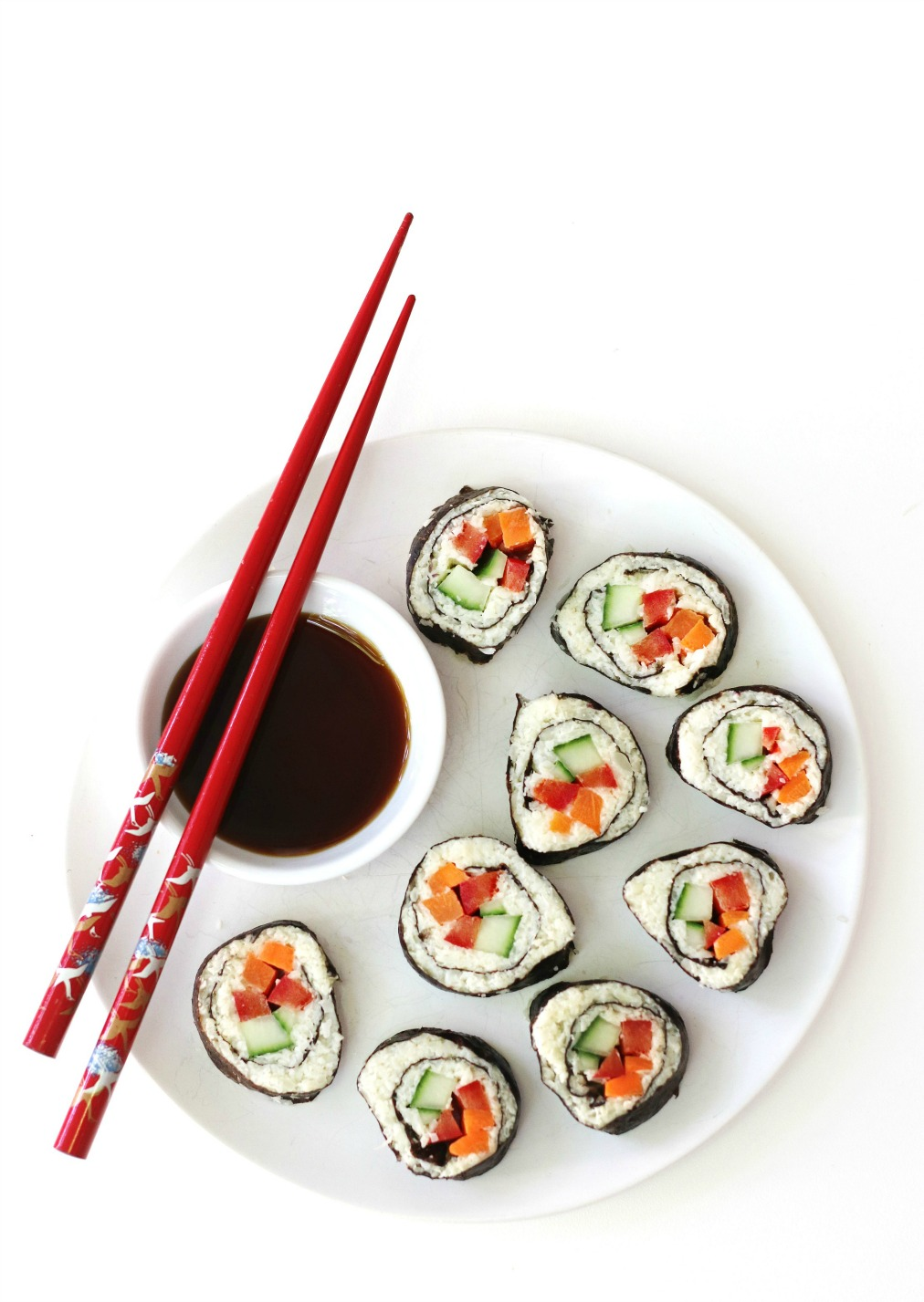 Cali'flour Kitchen cream cheese sushi rolls try small things