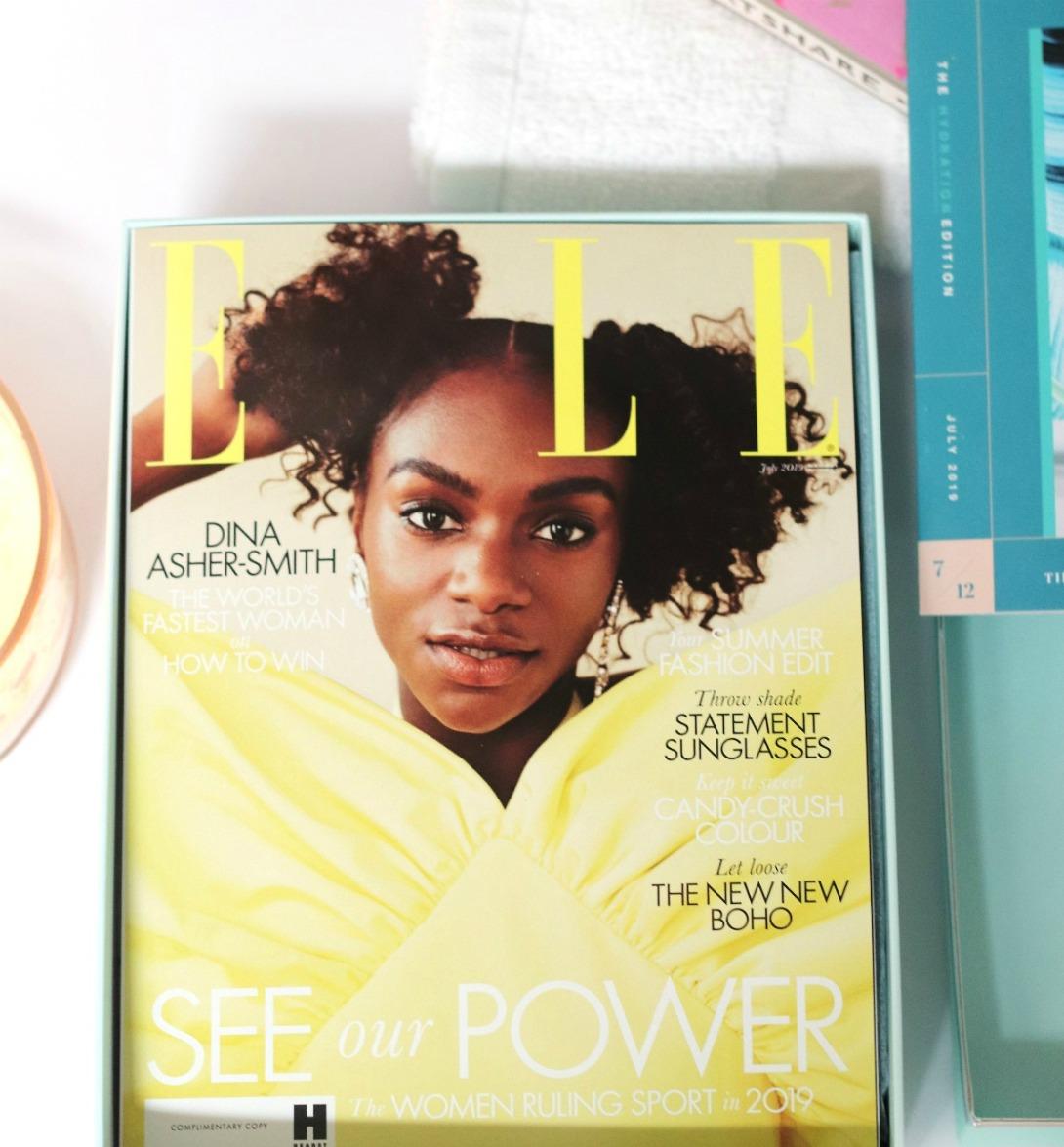 lookfantastic July 2019 Elle magazine 2