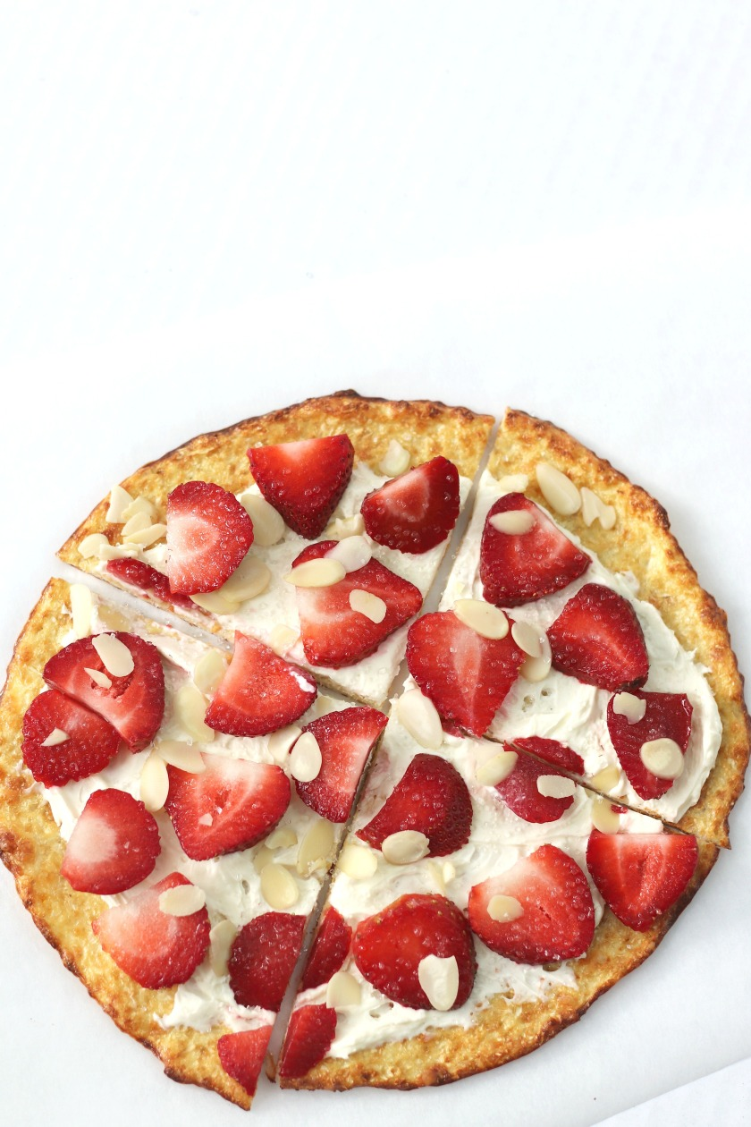 Strawberry Pie cauliflower crust