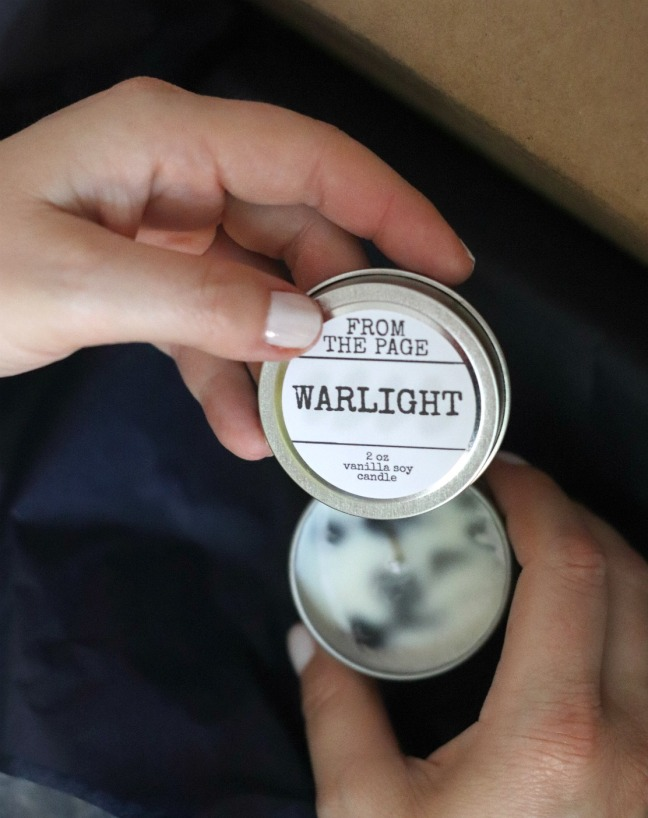 Sweet Reads Box July 2019 From the Page vanilla soy candle