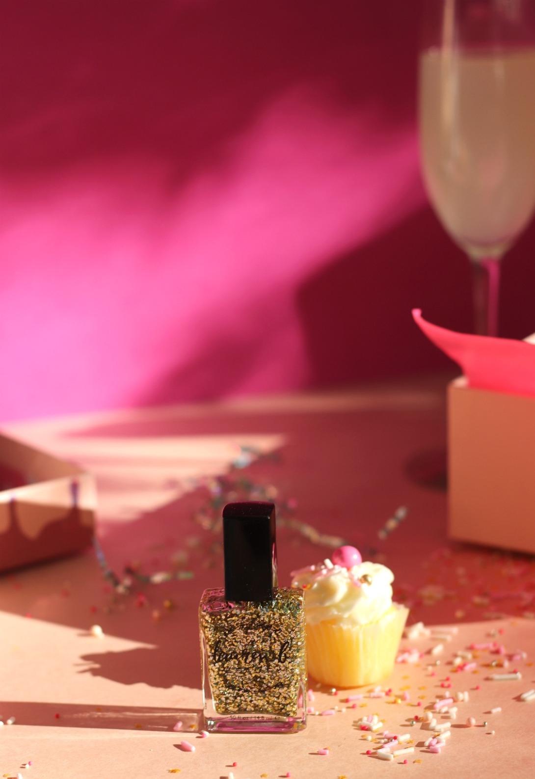 Glossybox The Birthday Box Aug 2019 Lauren B Beauty Bright Lights Nail Polish