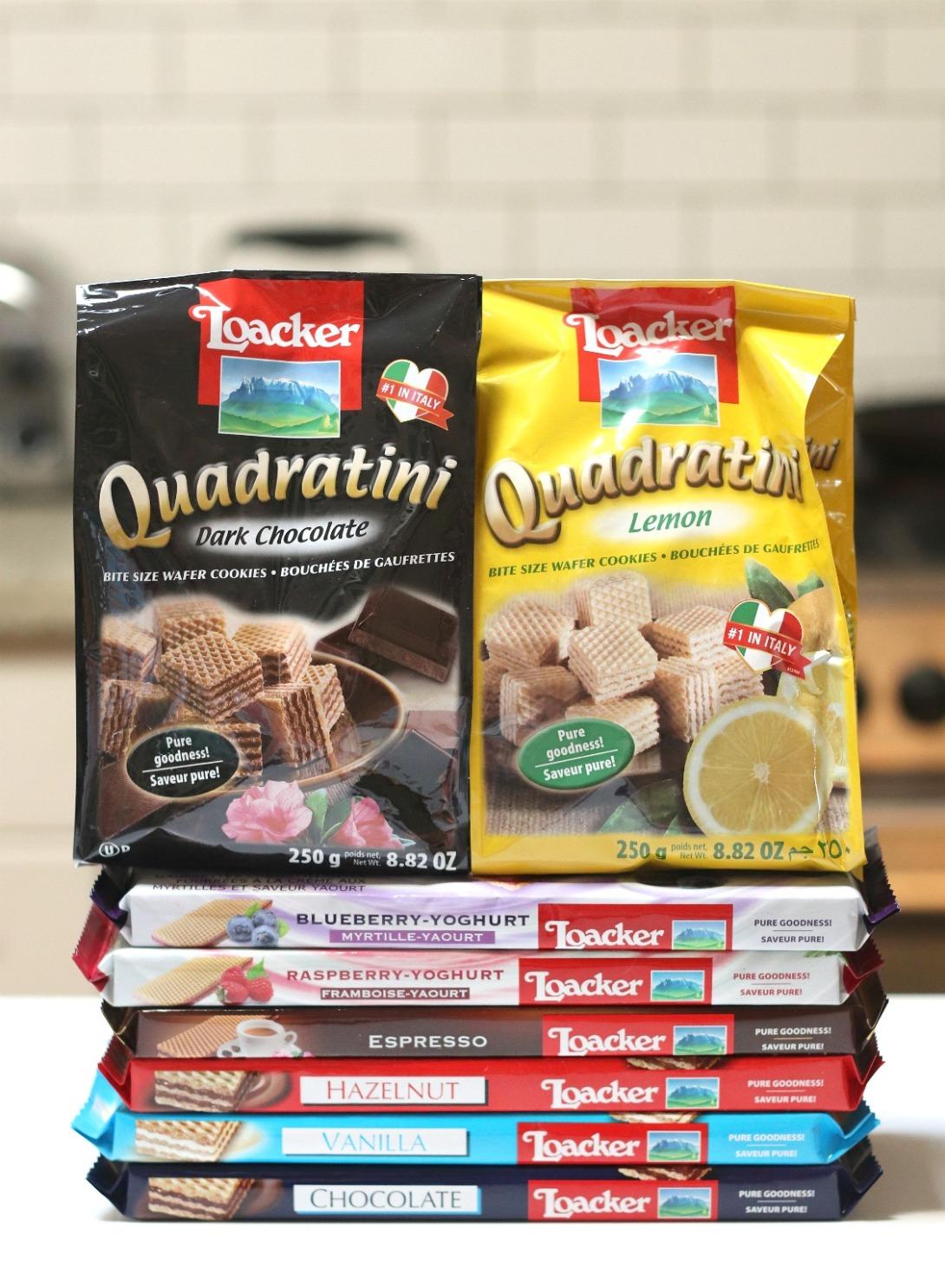 Loacker Canada Quadratini and crisp wafer assortment