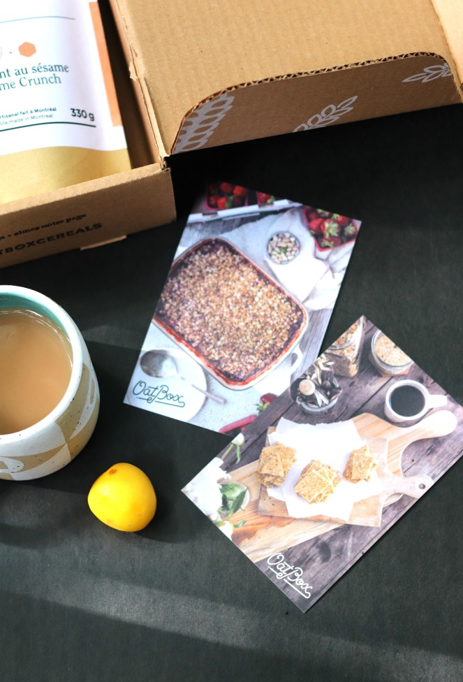OatBox August 2019 recipe cards