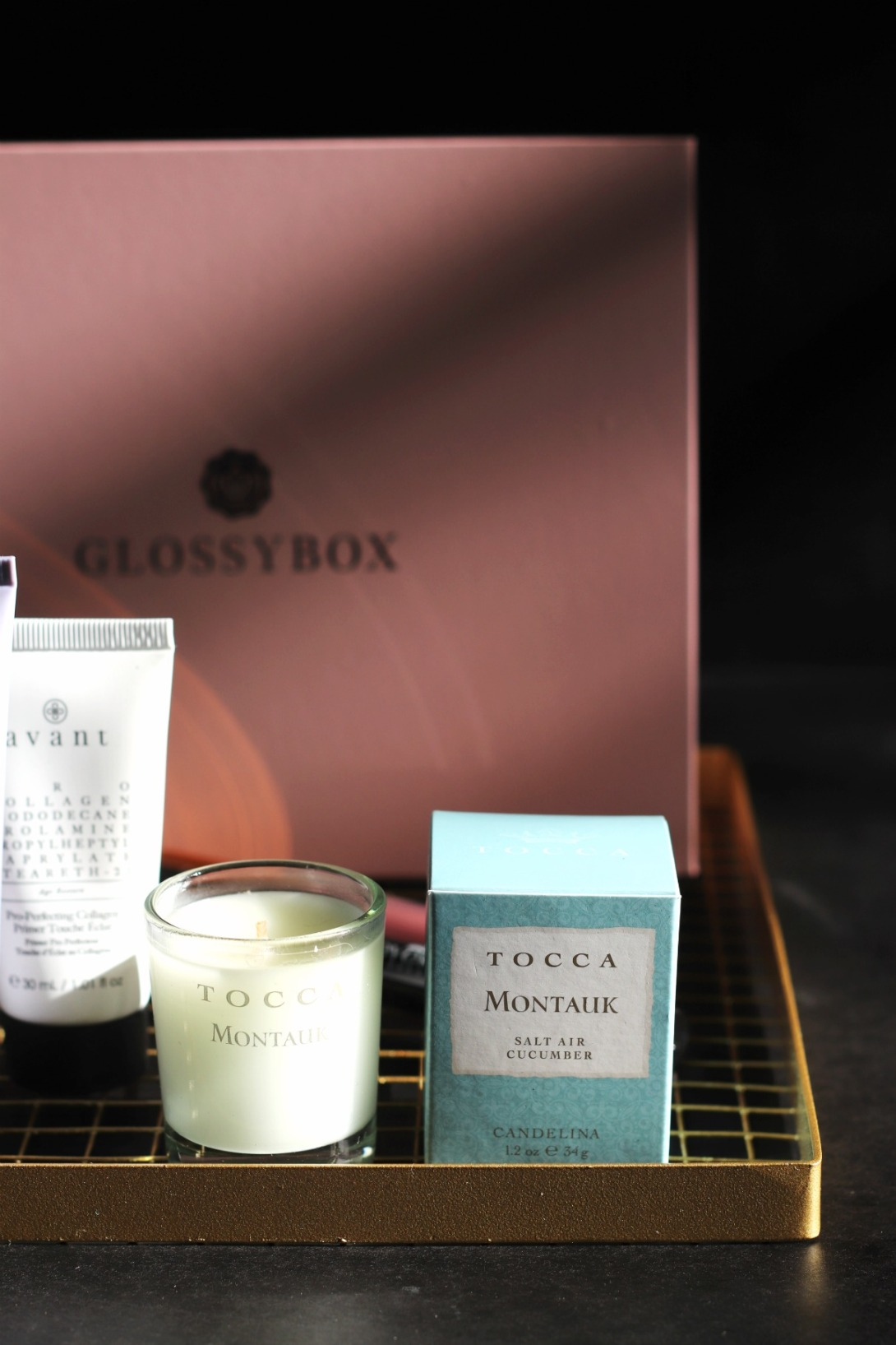 GLOSSYBOX Sept Tocca Montauk candle