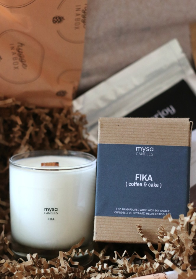 Hygge in a box fika candle