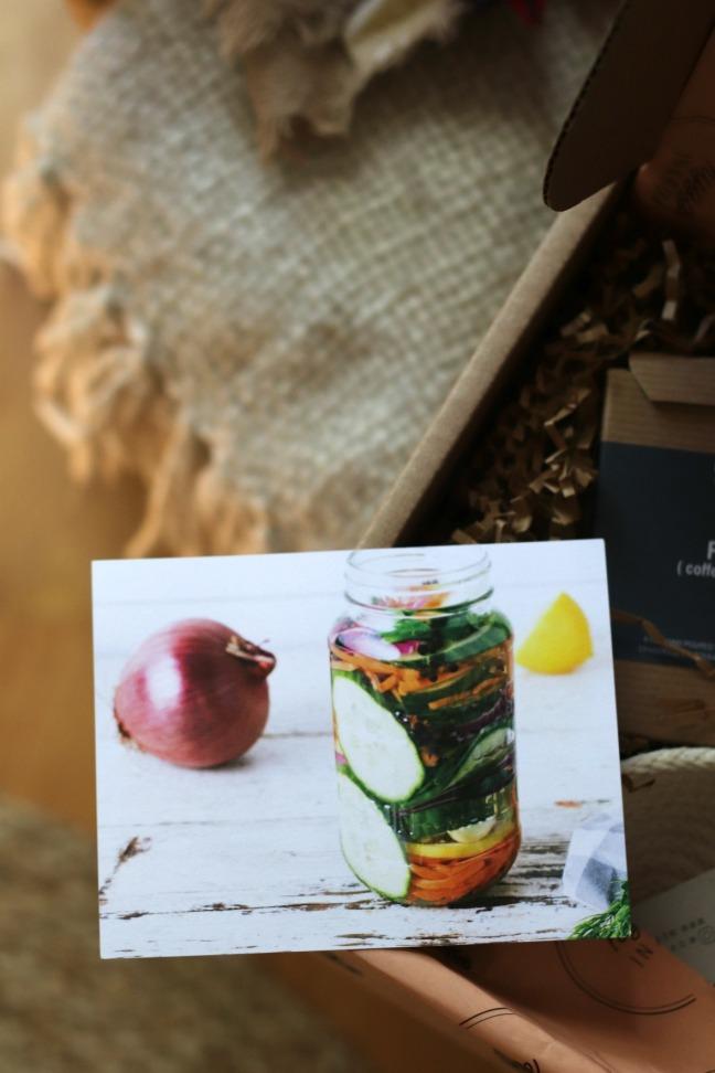Hygge in a box recipe card
