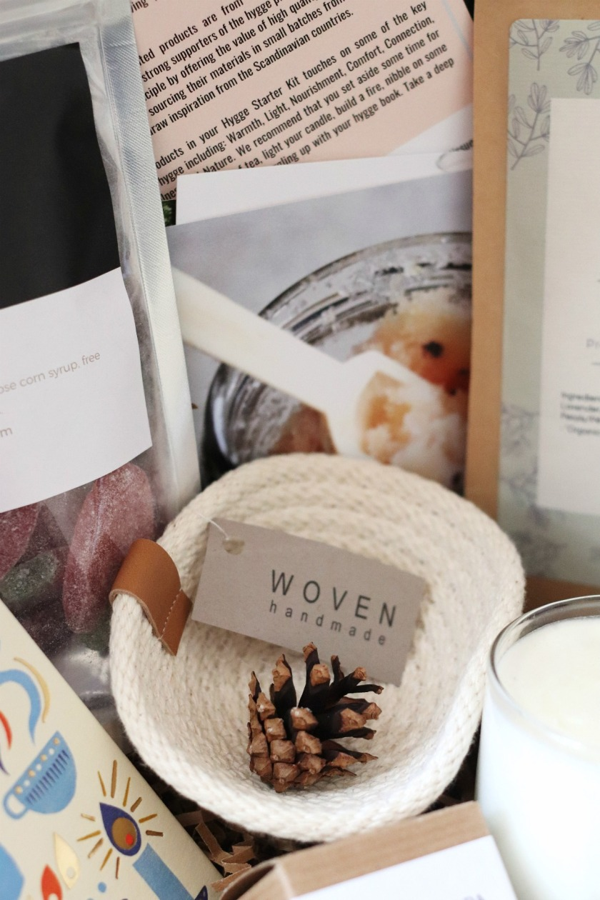 Hygge in a box Woven Handmade basket