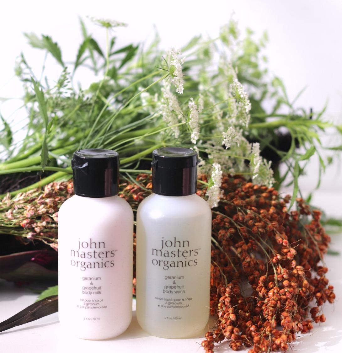 Glossybox October 2019 John Masters Organics body milk and body wash ayob