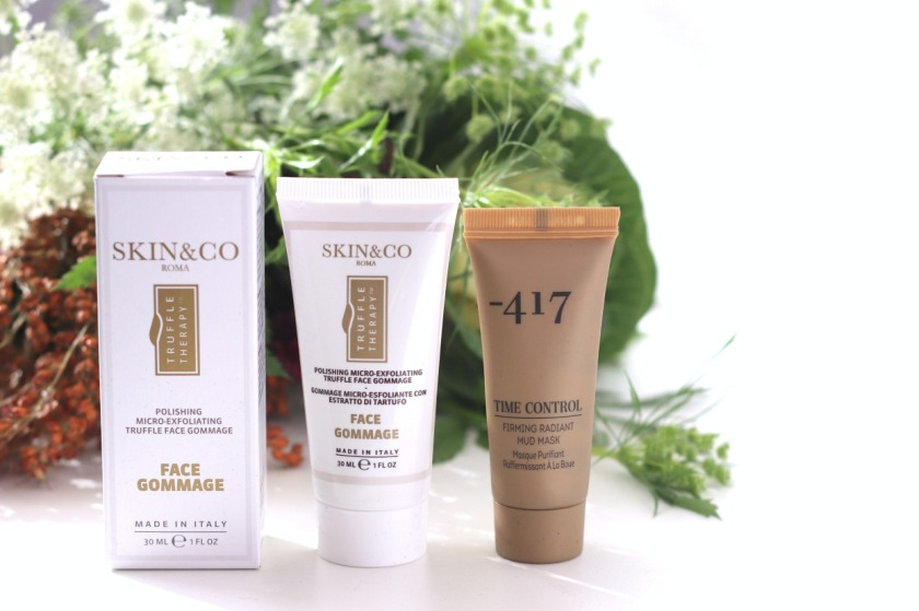 Glossybox October 2019 Skin&Co face gommage and -417 mud mask ayob
