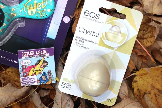 lookfantastic oct 2019 the balm foiled again eyeshadow and eos crystal lip balm vanilla orchid