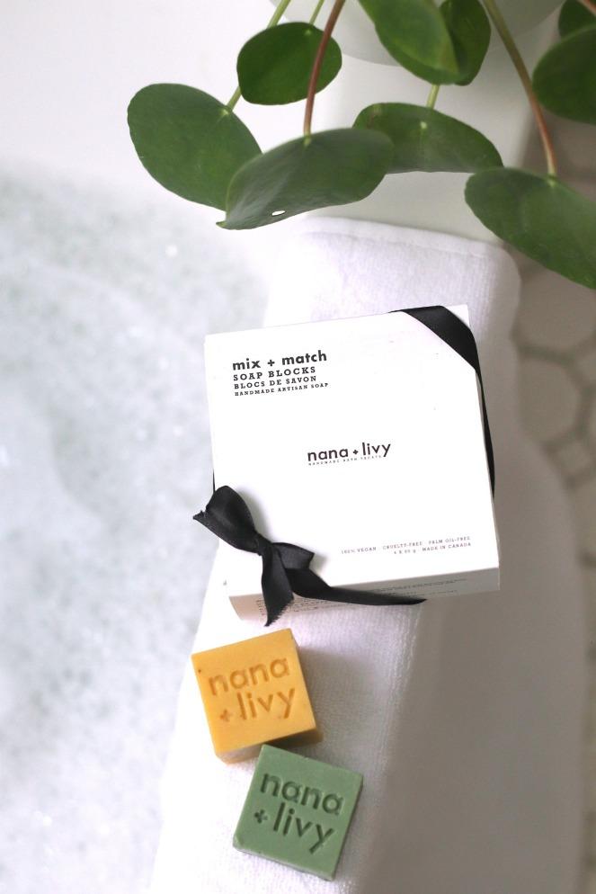 nana + livy mix + match soap blocks close up