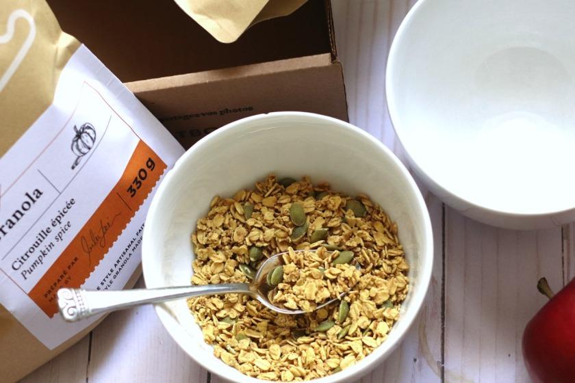 OatBox October 2019 pumpkin spice granola ayob