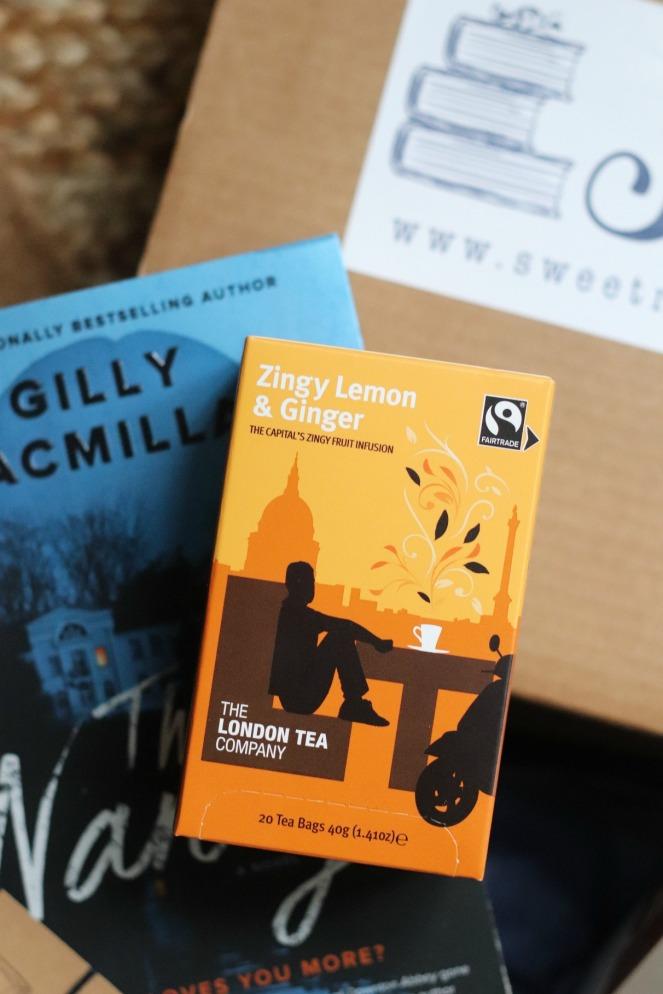 Sweet Reads Box Oct 19 Zingy Lemon & Ginger tea