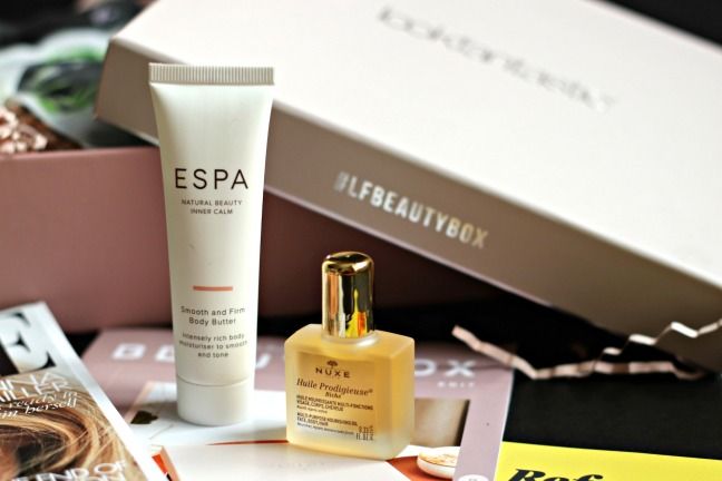 Lookfantastic November 2019 ESPA smooth and firm body butter