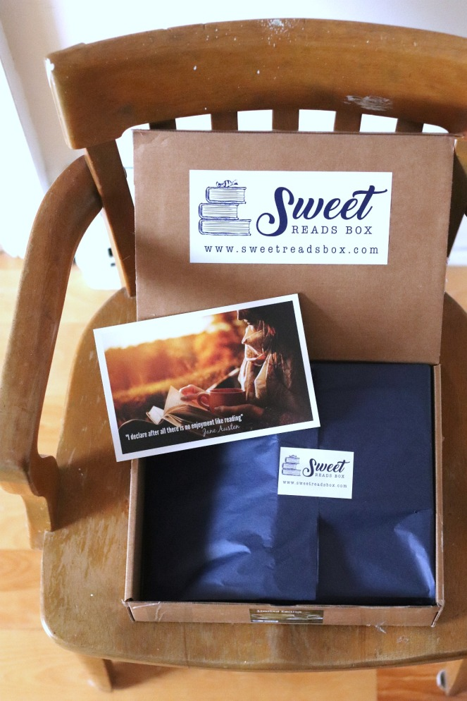 Sweet Reads Box Second Limited Edition Book Lovers Box inside the box