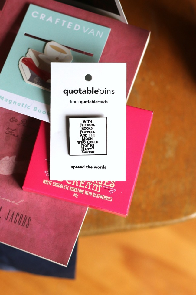 Sweet Reads Box Second Limited Edition Book Lovers Box Quotable Pin Oscar Wilde