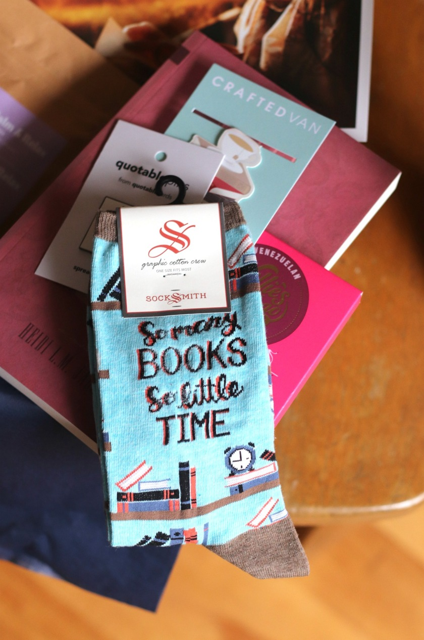 Sweet Reads Box Second Limited Edition Book Lovers Box Socksmith So Many Books So Little Time Socks