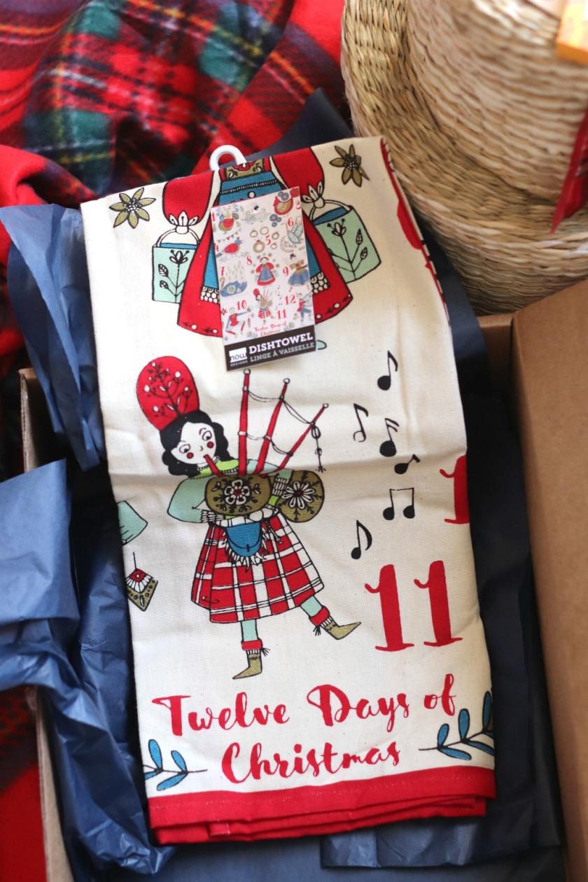 Sweet Reads Box Christmas Boc 2019 dish towel