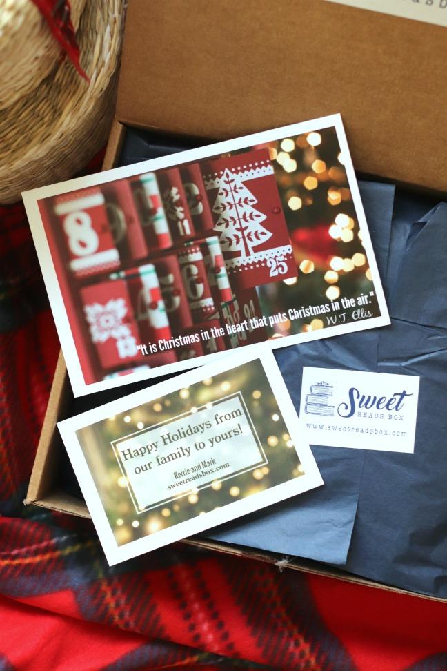 Sweet Reads Box Christmas Box 2019 inside the box