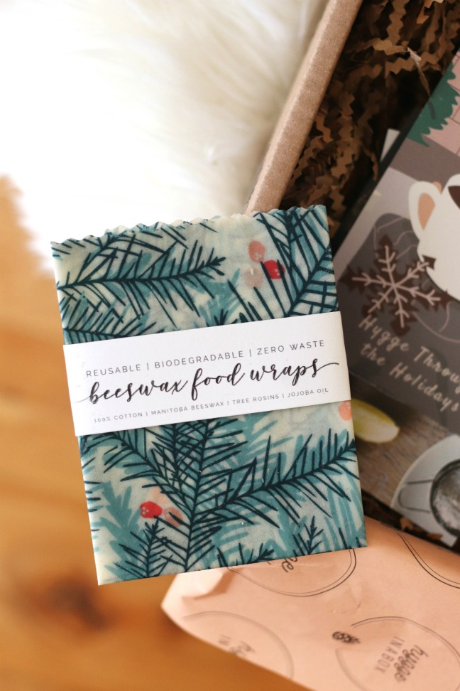Hygge in a Box Holiday Box 2019 Beeswax food wraps