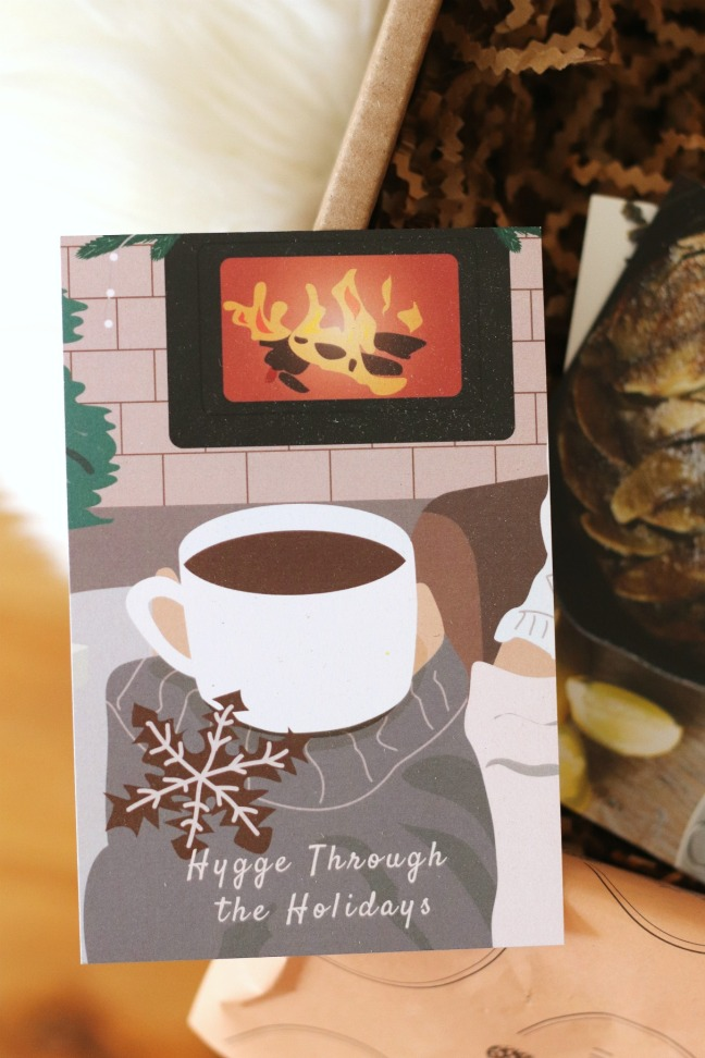 Hygge in a Box Holiday Box 2019 Hygge Through the Holidays card