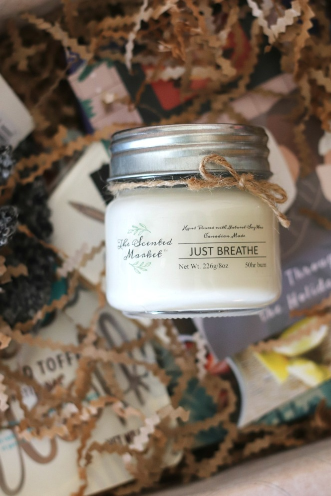 Hygge in a Box The Holiday Box 2019 The Scented Market Just Breathe Candle