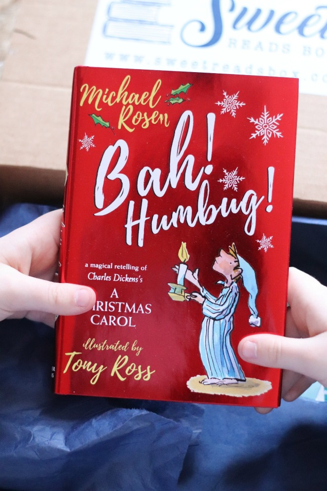 Sweet Reads Box Kids Christmas Box ages 8 to 12 Bah Humbug by Michael Rosen