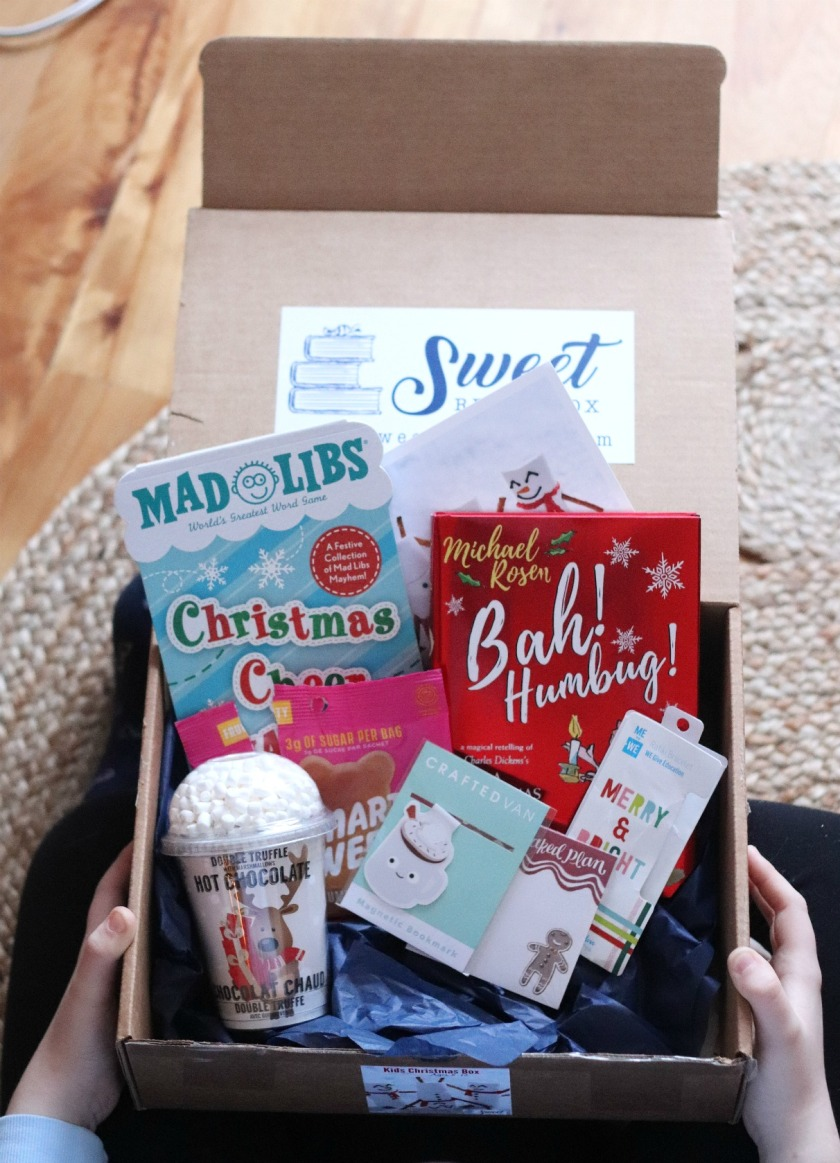 Sweet Reads Box Kids Christmas Box ages 8 to 12 full contents