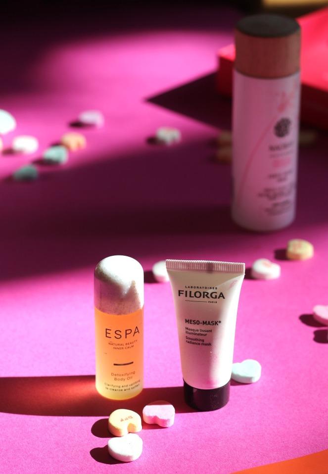 Lookfantastic Feb 2020 ESPA body oil and FILORGA mesh-mask