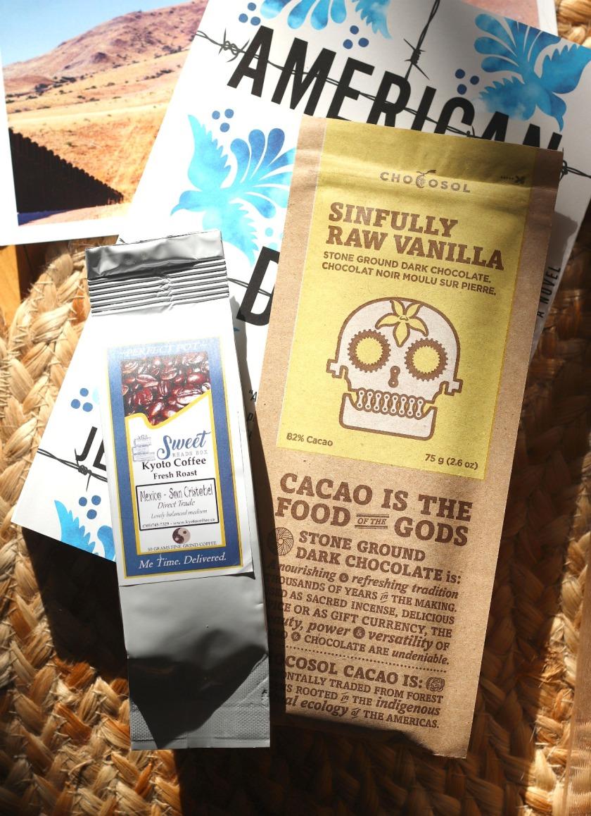 Sweet Reads Box Feb 2020 coffee and chocosol dark chocolate