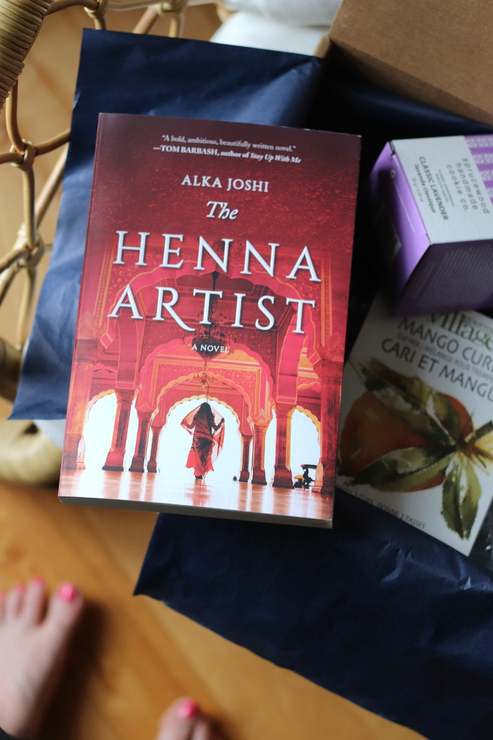 Sweet Reads Box March 2020 The Henna Artist by Alka Joshi