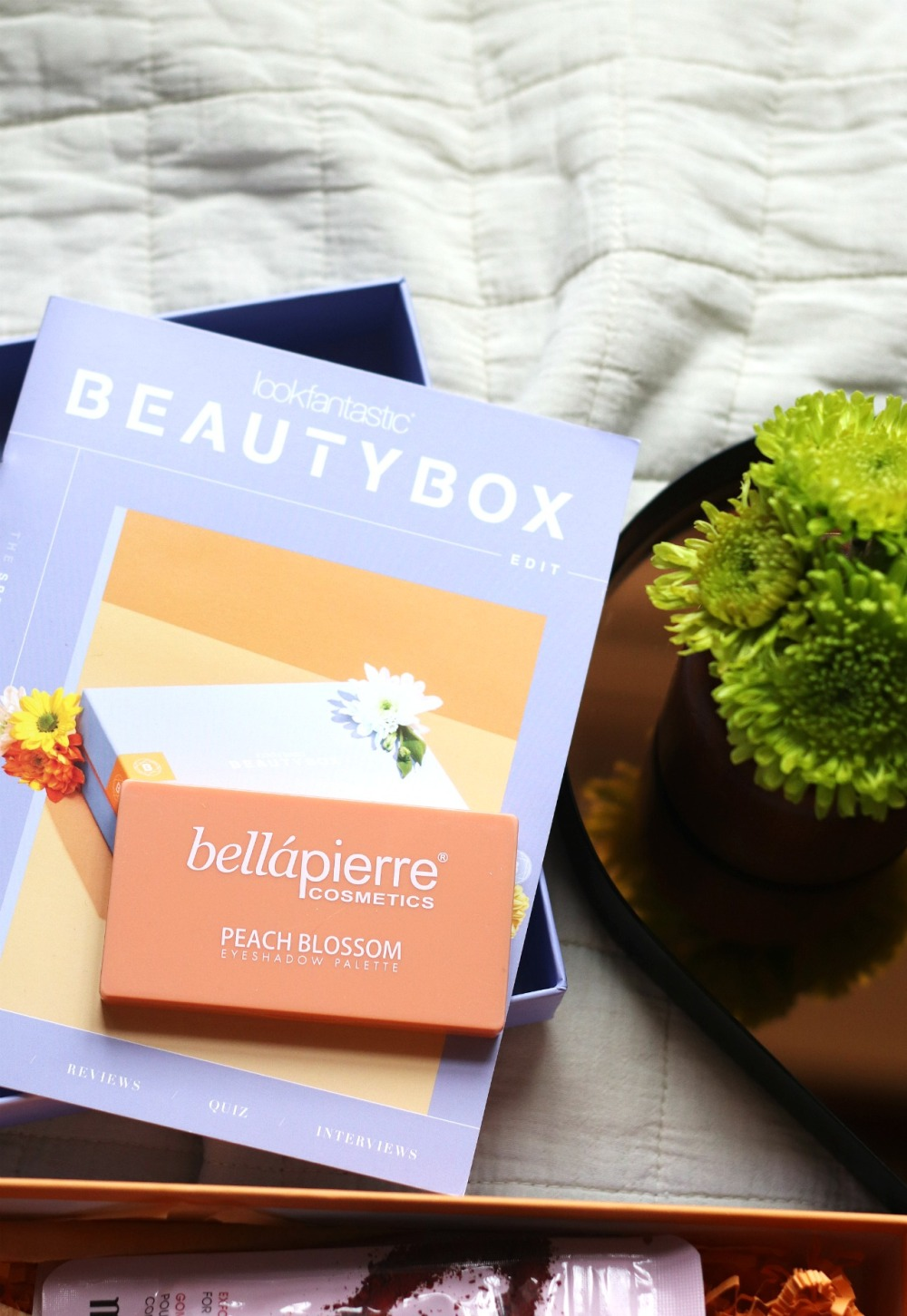 Lookfantastic April 2020 Bellapierre Peach Blossom Eyeshadow Palette