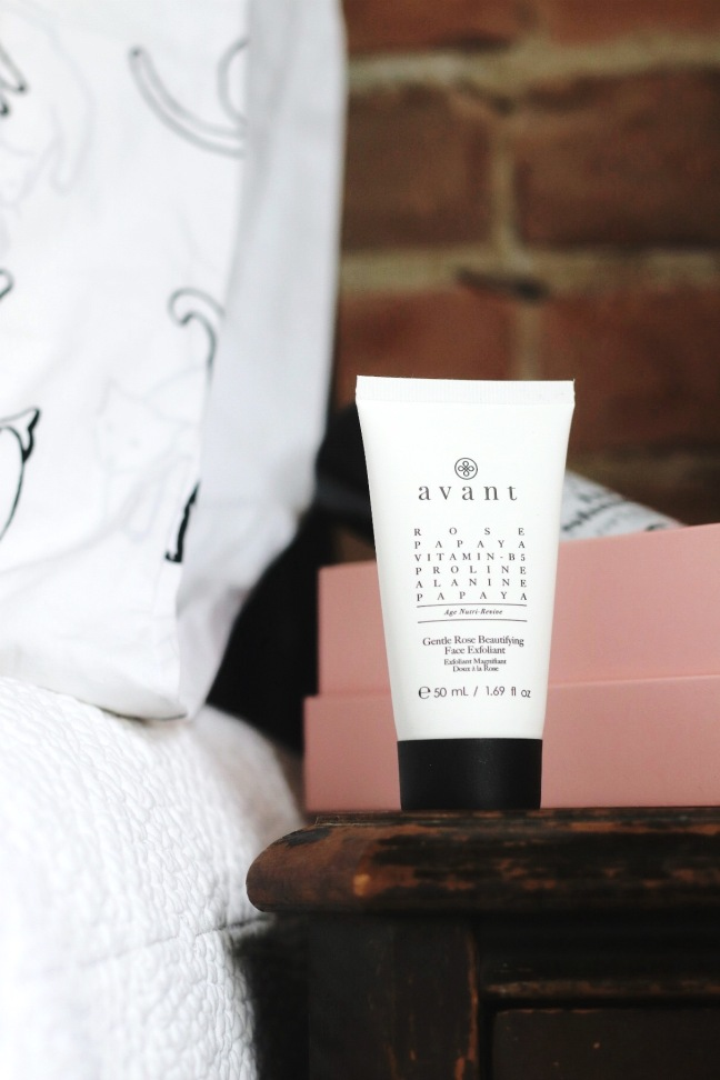 glossybox april 2020 avant gentle rose exfoliator try small things
