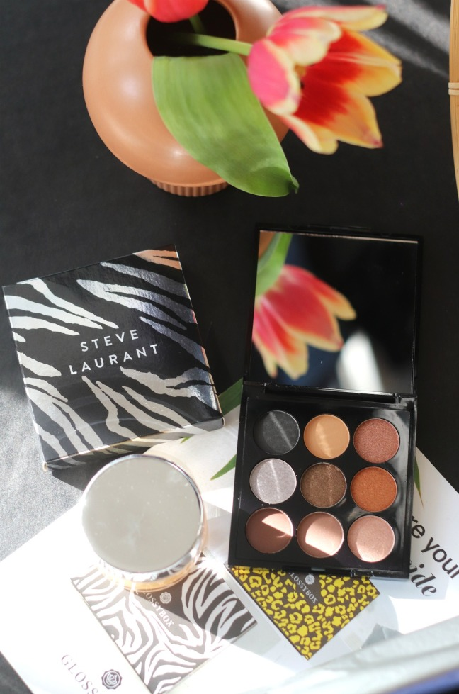 Glossybox May 2020 reg Steve Laurant eyeshadow palette