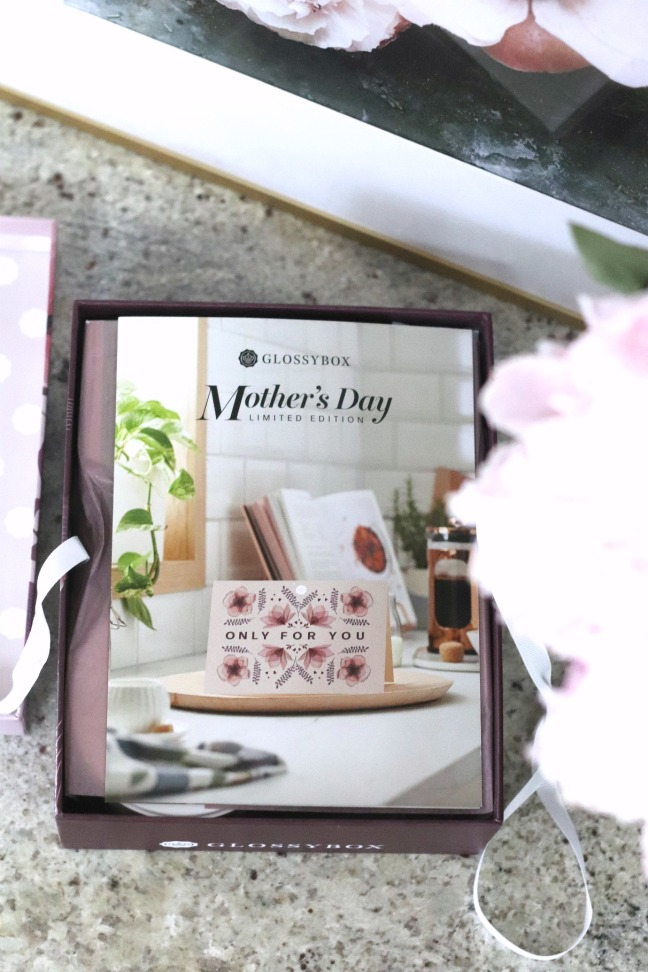 Glossybox Mother's Day 2020 product brochure guide