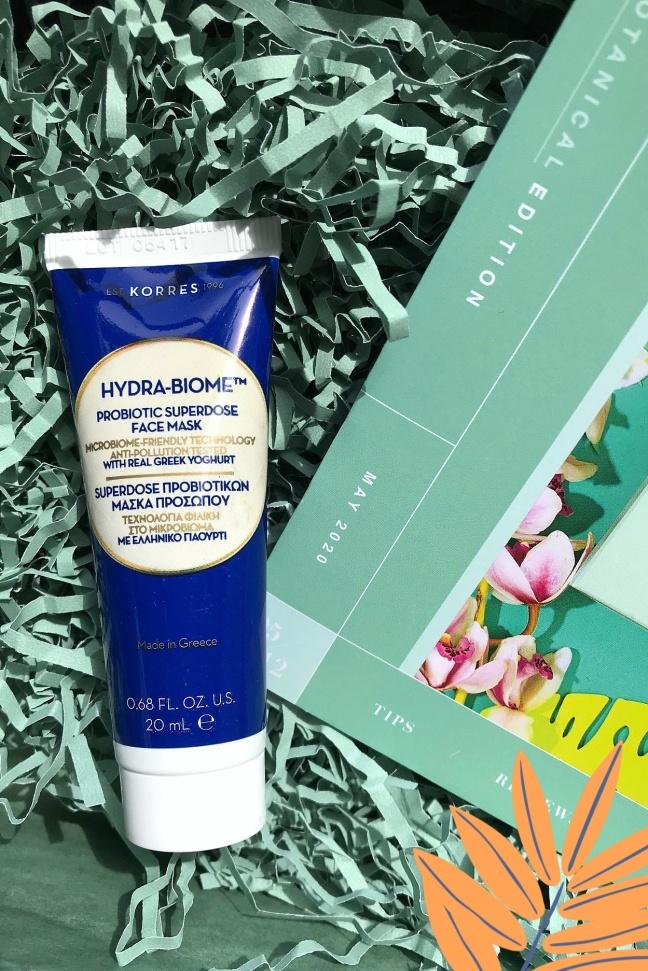 Lookfantastic Beauty Box Korres Hydra-Biome face mask-2