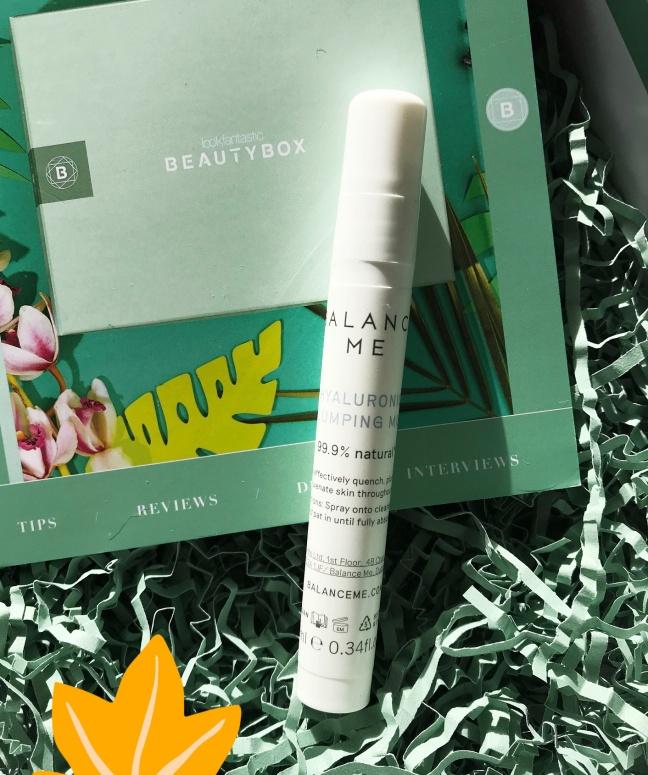 Lookfantastic Beauty Box May 2020 Balance Me plumping mist-2