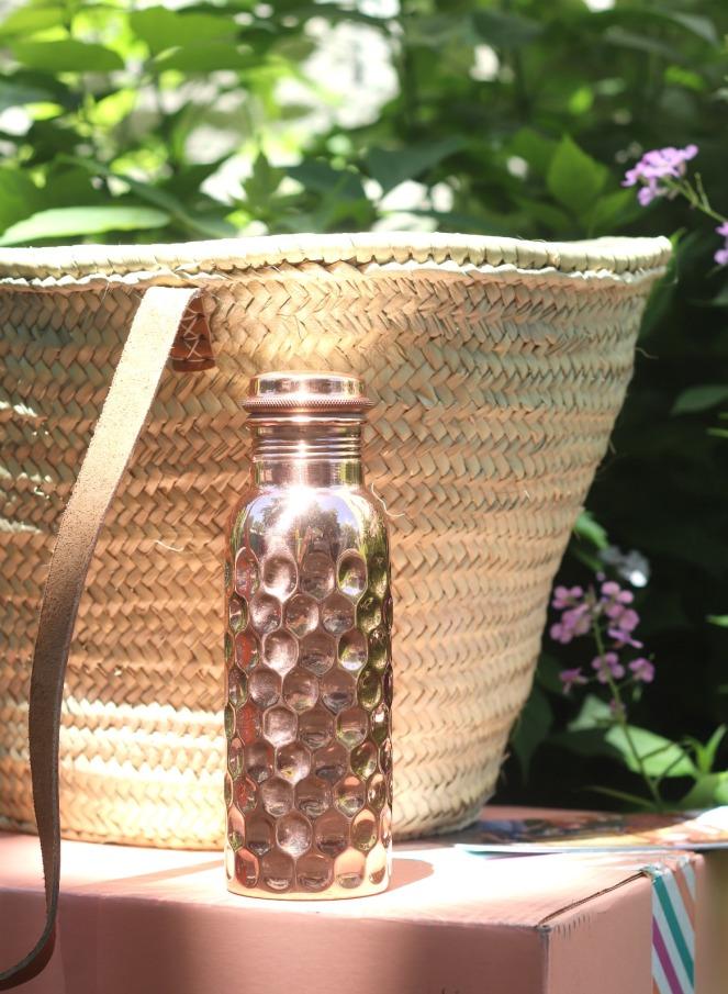 GlobeIn Savvy Box Copper Water Bottle