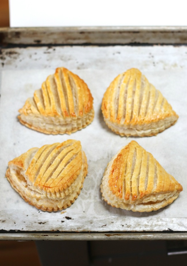 Goodfood apple turnovers just out of the oven